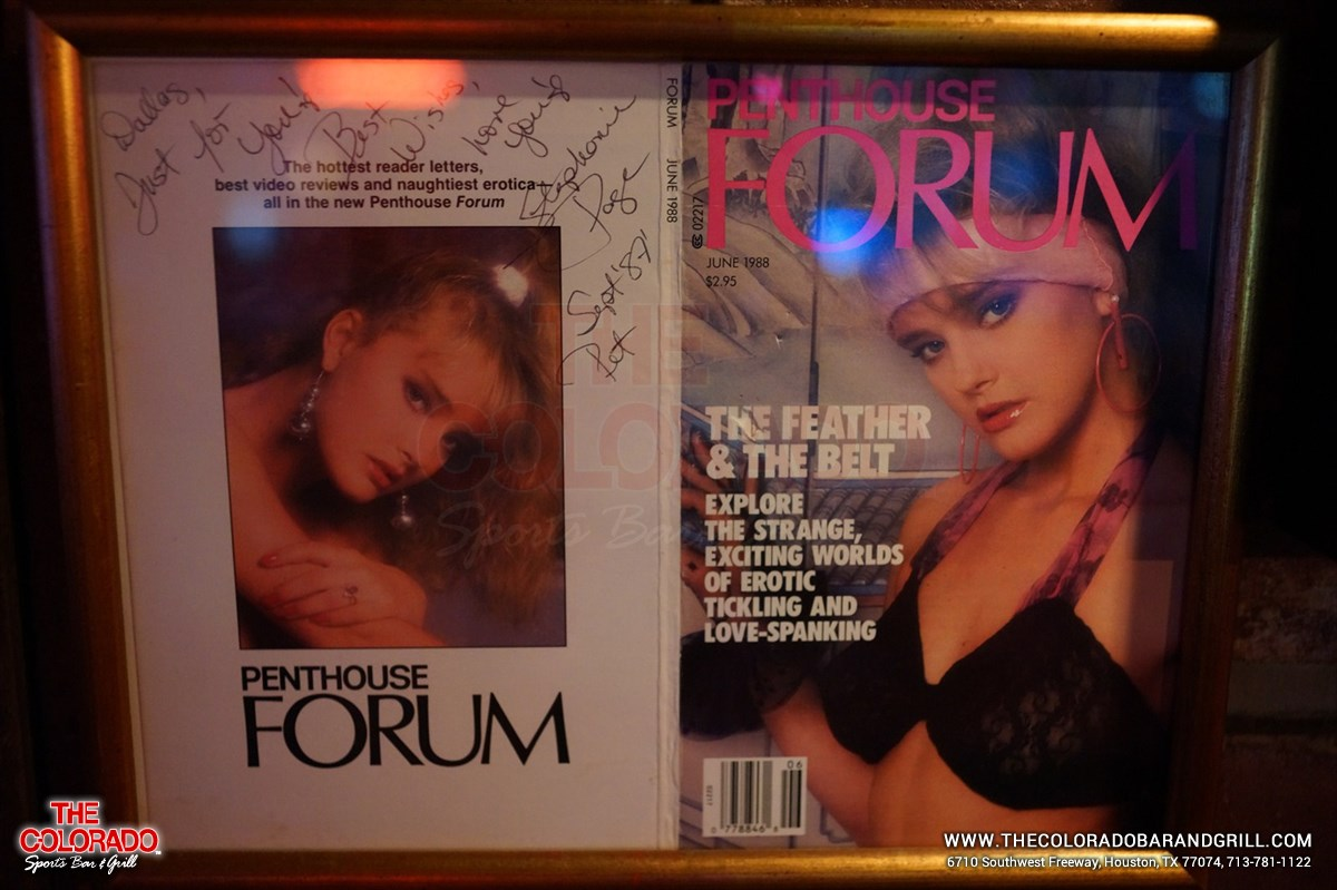 Memorabilia from the Colorado Stripclub