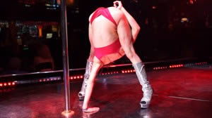 Arianna spins on the Pole and then shows how flexible she really is.
