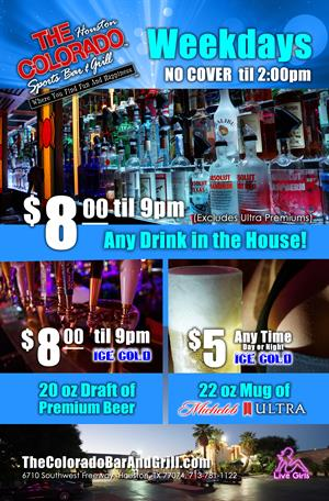 Weekday Drink Specials