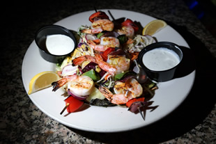 Shrimp Skewers Salad