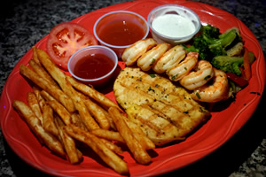 Grilled Chicken and Shrimp