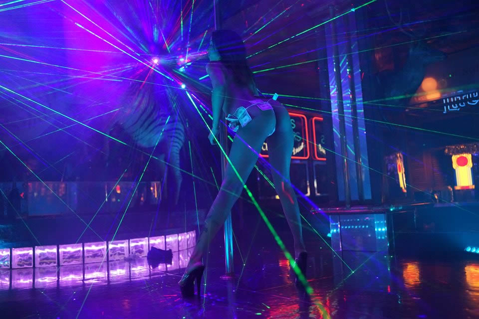 Best Light and Laser Show at any Houston Strip Club